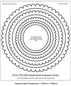 PCA-TP3123E-B&W-EasyEmboss-Scalloped-Circles